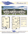 Townhome Brochure by Kemp Design Services featuring floorplan, square footage, and front elevation