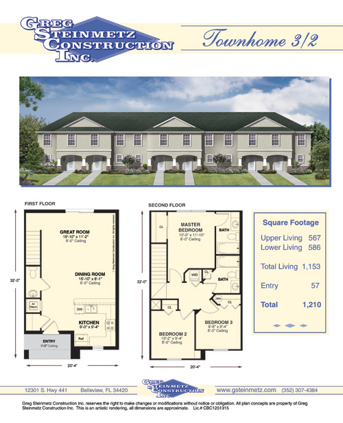 Townhomes Floorplans Unique House Plans